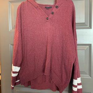 American Eagle pink sweater hoodie